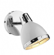 Osaka Single Spotlight in Gloss White and a Chrome Trim, Switched - där OSA072